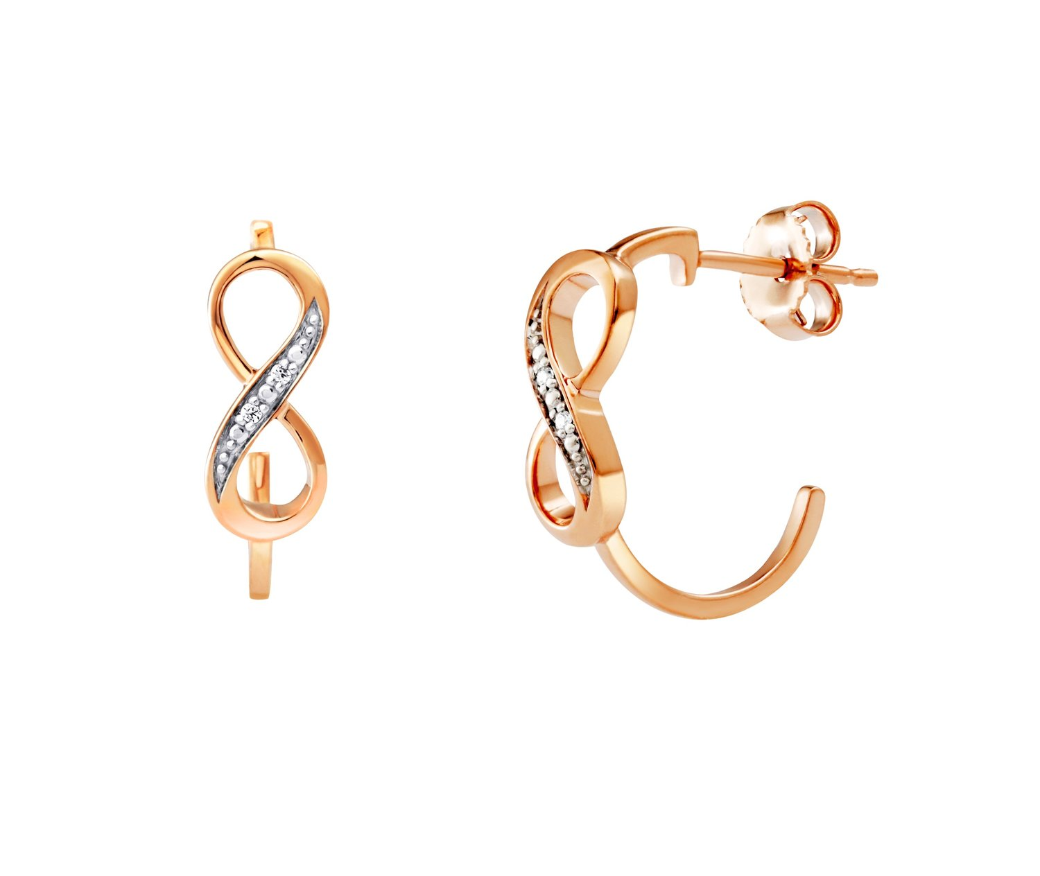326c0a2c0 Love It Collection 9ct Gold Diamond Infinity Hoop Earring | Michael Frank  Jewellers