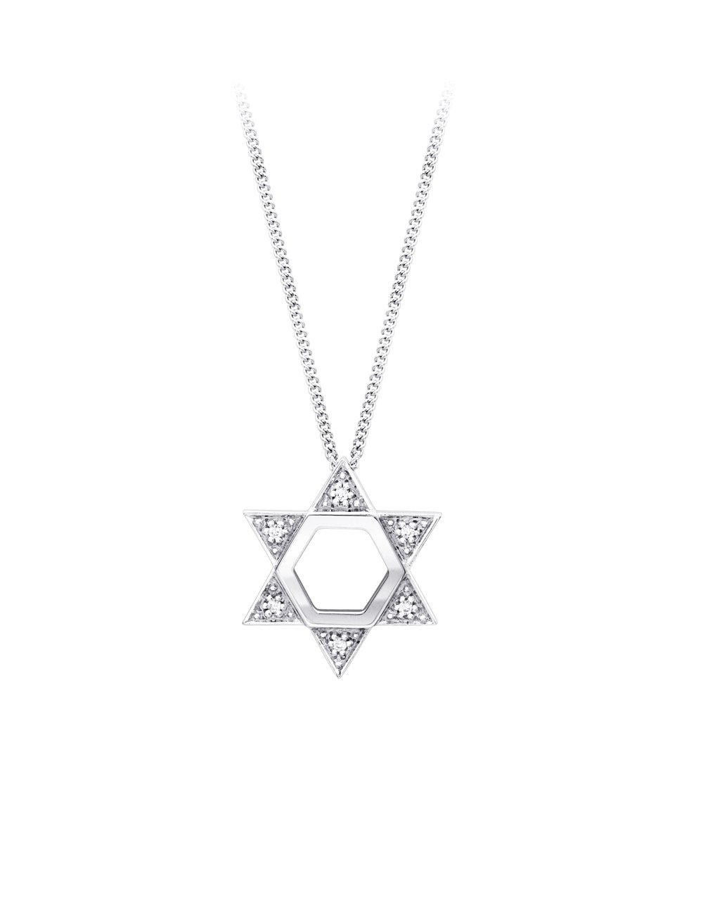 Love it collection 9ct white gold diamond star of david pendant love it collection 9ct white gold diamond star of david pendant aloadofball Images