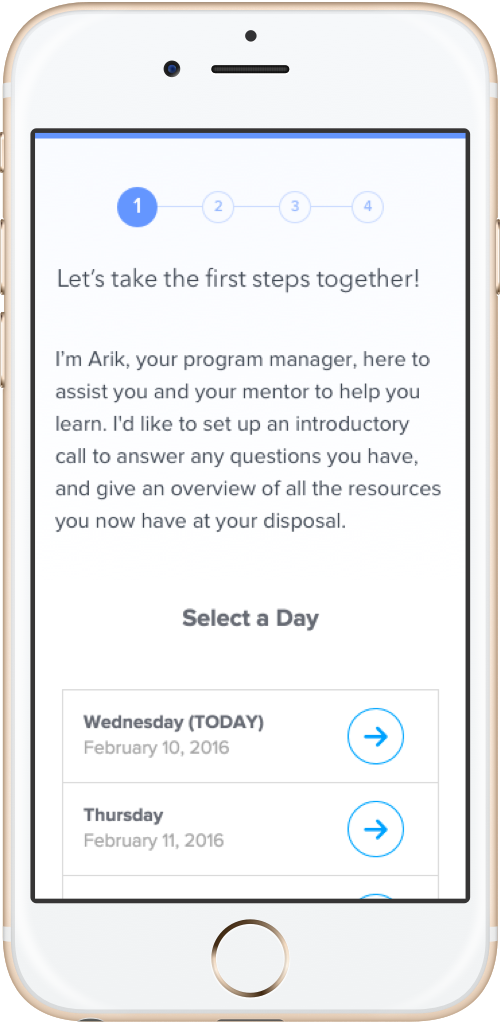 Copy of Step 1 - Schedule a call with Program Manager
