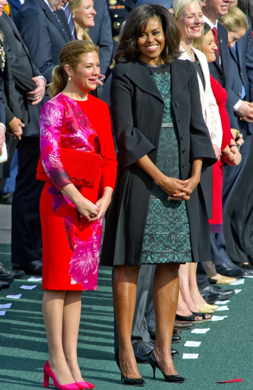 MICHELLE OBAMA IN TANYA TAYLOR