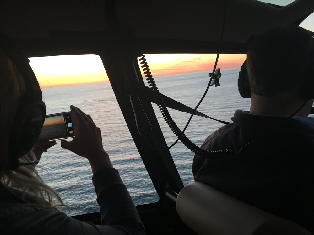 San Diego County Helicopter Sunset Rides