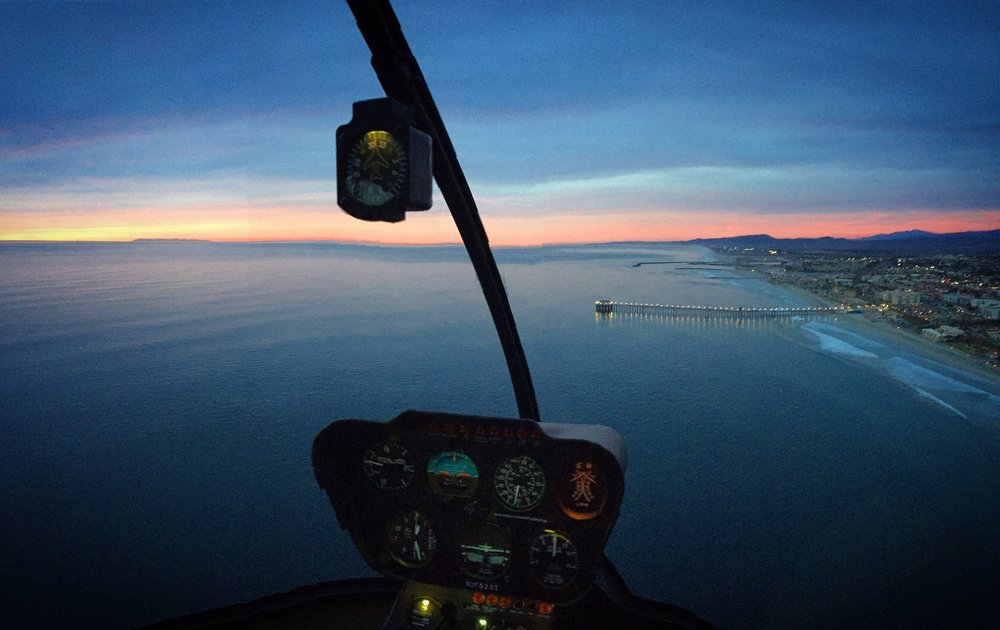 San Diego County Coastal Helicopter Sunset Tours
