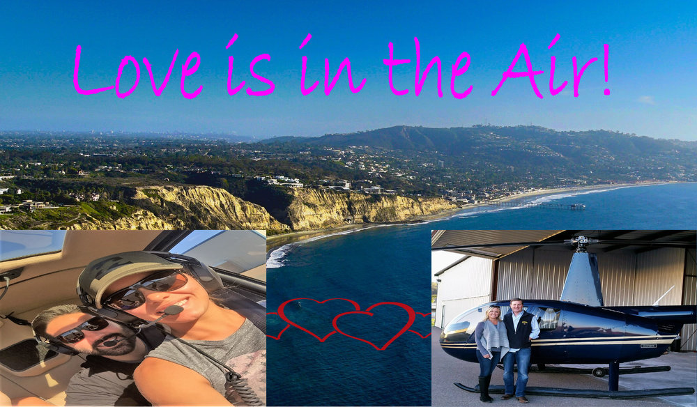 Valentine's Day helicopter ride over San Diego County