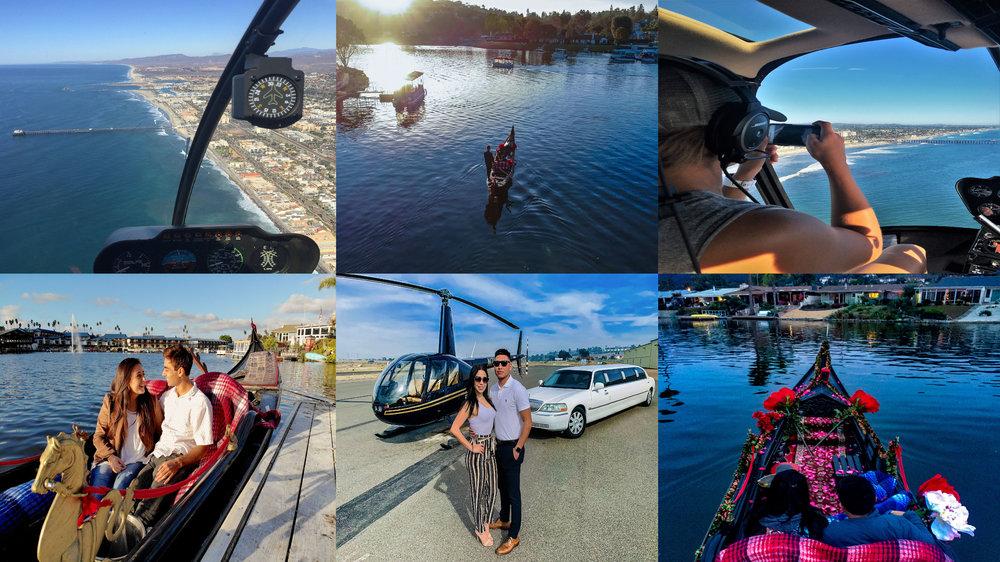 San Diego Tours - Helicopter Ride, Luxury Limousine, Venetian Gondola Ride