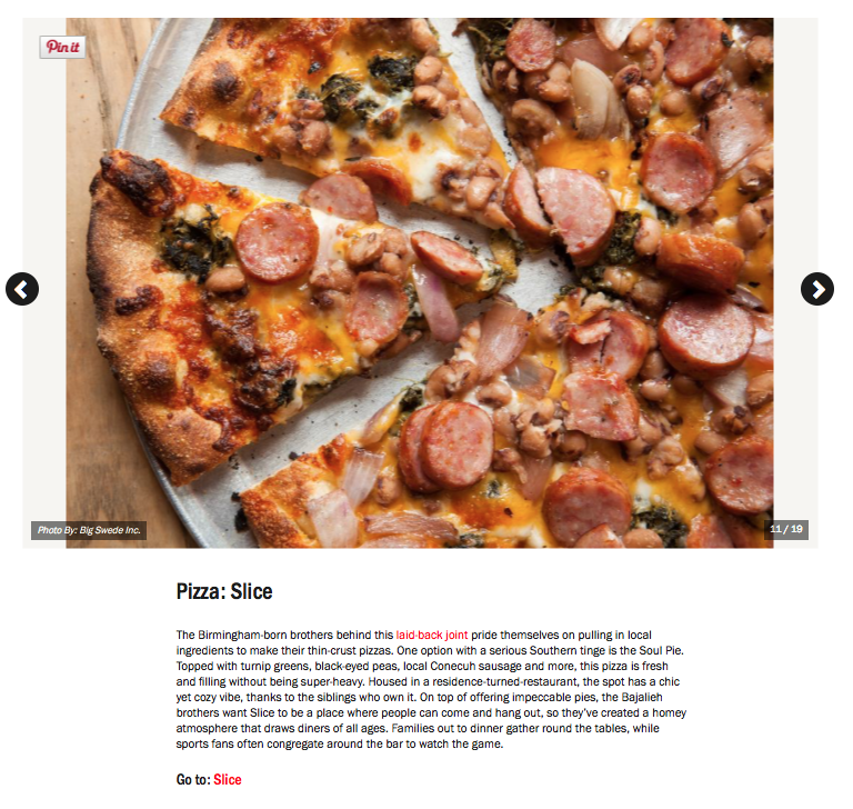 "FOOD NETWORK: SLICE PIZZA & BREWHOUSE ""Culinary Wonders in The Magic City: What to Eat in Birmingham"""