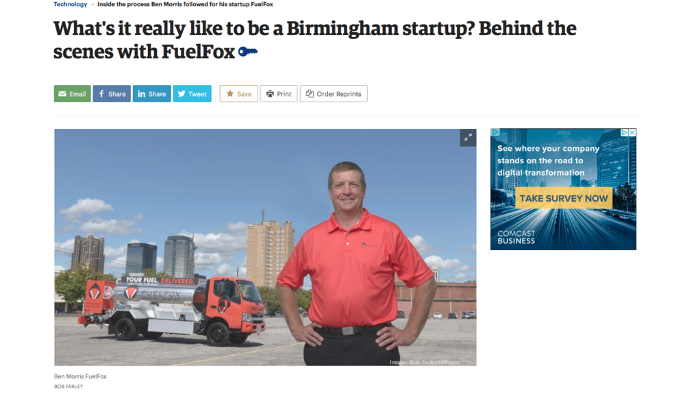 "BBj: Technology     ""What's it really like to be a birmingham startup? behind the secens with fuelfox"""