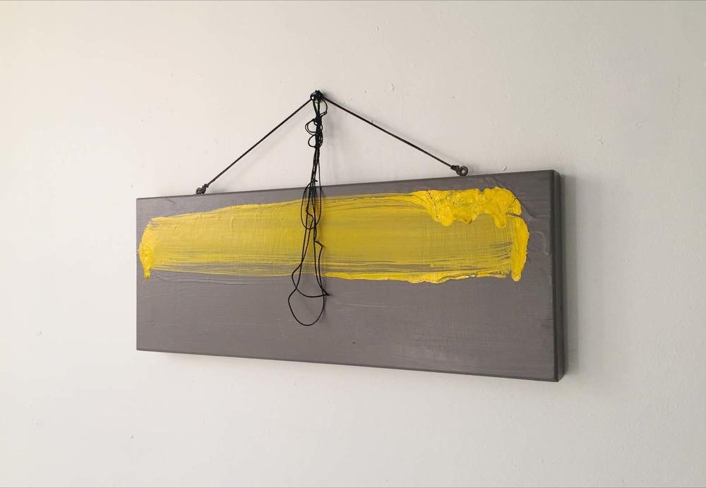 """By John Doe/ """"Ipsum Lorem"""" / 2016 featuring 'INT-O Yellow' (International Optimism Yellow) a collaboration with Pantone Morbi vel sem tempus, efficitur magna in, vehicula massa. Nam elementum ut libero vitae fermentum. Curabitur enim tellus, interdum vel ultricies at, aliquet non sapien. Pellentesque at nisi tincidunt, porttitor purus sit amet, consequat justo. Proin vitae augue vestibulum tortor convallis posuere non at erat. Sed luctus elementum lorem et. www.umeweinc.com"""