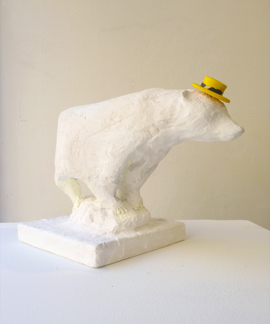 "Sue Kamet/""Polar Bear with Yellow Hat""/2016"