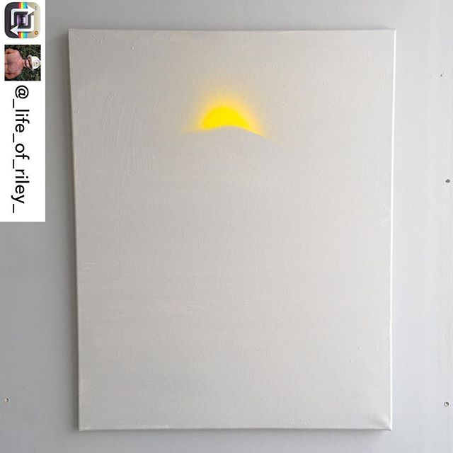 "In honor of May as Mental Health Awareness Month, artist/INT-O Yellow co-founder @_life_of_riley_ created a body of work to explore a range of issues such as depression, suicide, mindfulness, and neuroplasticity. This piece is titled ""Peaking"" and is inspired by glimmers of hope and seeking to climb up out of depression. It is for sale for $600, with 25% supporting the Mental Health Association of America and 25% to UMEWE, to inspire #optimism in the arts by continuing to gift #INTOyellow paint to more artists! Direct all inquiries to: Riley@UMEWEinc.com 🎨🗻💛 #mentalhealthawareness #mha #mentalhealthawarenessmonth"