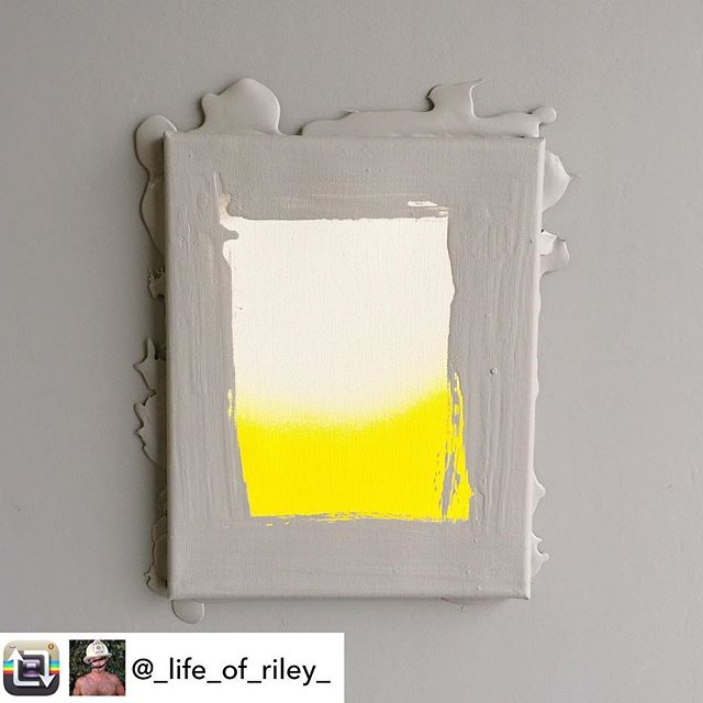 "In honor of May as Mental Health Awareness Month, artist/INT-O Yellow co-founder @_life_of_riley_ created a body of work to explore a range of issues. This piece is titled ""Structure in Chaos"" and is inspired by seeking to keep an equilibrium of hope when it feels like life is closing in. This painting is currently for sale for $600 (25% benefitting the Mental Health Association of America and 25% to UMEWE to inspire #optimism in the arts by continuing to gift INT-O Yellow paint to other artists). INQUIRIES: Riley@UMEWEinc.com 🎨#mentalhealthawareness #mha #mentalhealthawarenessmonth #optimisminaction #INTOyellow"