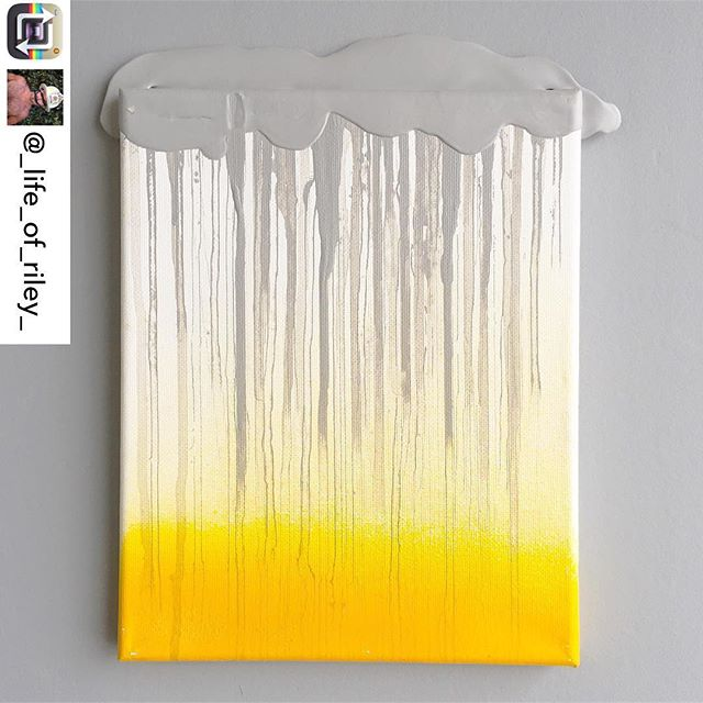 "Another stunning piece from artist/INT-O Yellow co-founder @_life_of_riley_ body of work in honor of May as Mental Health Awareness Month. This painting, titled ""The Rain in My Veins"" refers to the beauty of melancholy. Riley uses Optimism (like Cubism, or any other ism) as a way of seeing the world. Optimism is not about avoiding reality, it is how one perceives it, interacts with it, affects it, and is inspired by it. This piece is currently for sale for $550, with 25% benefitting the Mental Health Association of America and 25% to UMEWE to inspire #optimism in the arts by continuing to gift #INTOyellow paint to other artists. For all inquiries contact: Riley@UMEWEinc.com! #mentalhealthawareness #mha #mentalhealthawarenessmonth #optimisminaction"