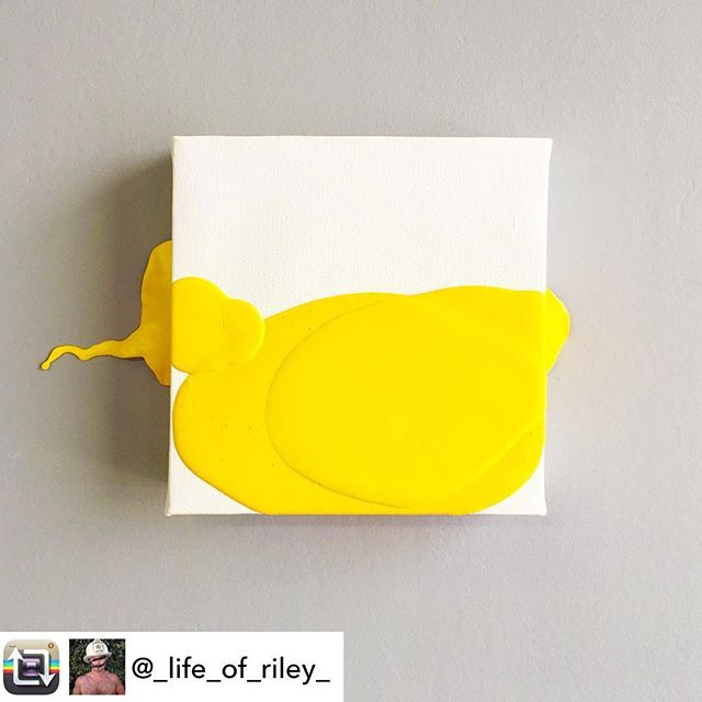 "In honor of May as Mental Health Awareness Month, artist/INT-O Yellow co-founder created a body of work to explore a range of issues such as depression, suicide, neuroplasticity, and mindfulness. This small painting, titled ""Potent(ial)"" is inspired by conception in captivity and stories of humans overcoming limitations/confinement/adversity through creativity. This piece is currently for sale for $300, with 25% benefitting the Mental Health Association of America and 25% to UMEWE to inspire #optimism in the arts by continuing to gift #INTOyellow paint to other artists! 🎨💛INQUIRIES: Riley@UMEWEinc.com #mentalhealthawareness #mha #mentalhealthawarenessmonth #optimisminaction"