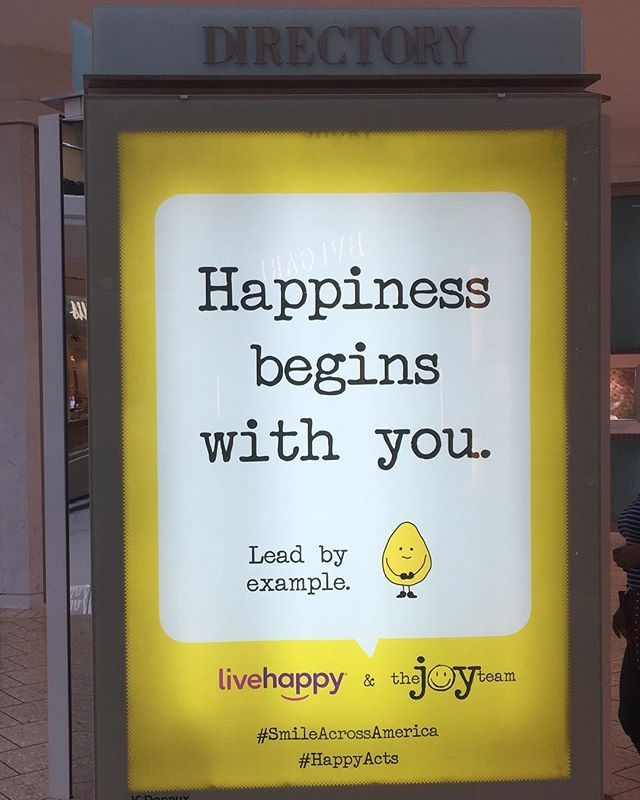 A little unexpected #optimism courtesy of LiveHappy and The Joy Team! #SmileAcrossAmerica #HappyActs