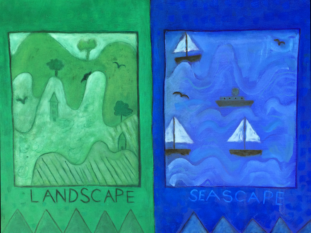 Landscape/Seascape  (2010), 18 x 24 in, oil on canvas