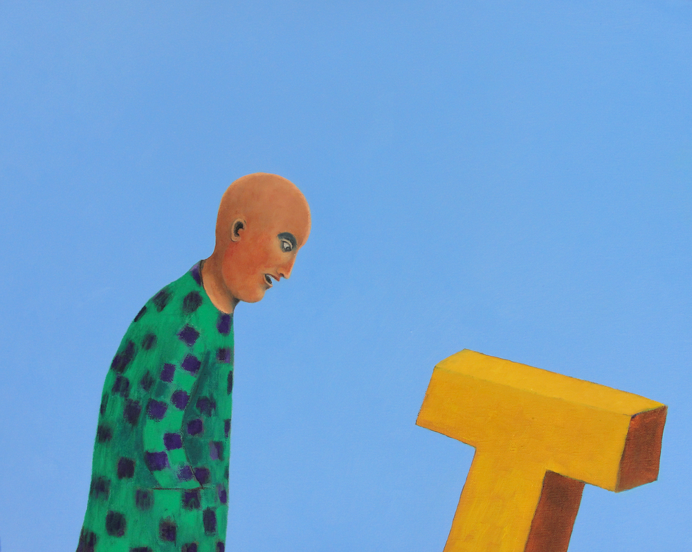 Contemplation of Suicide  (2010), 16 x 20 in, oil on canvas