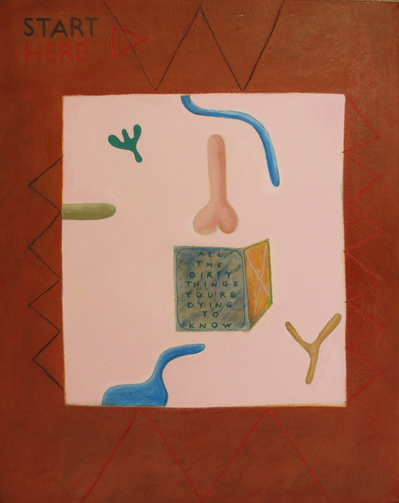 All The Dirty Things You Are Dying To Know  (2010), 20 x 16 in, oil on canvas