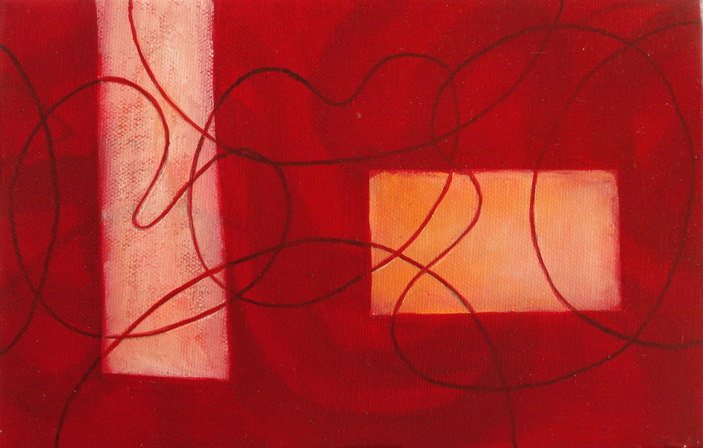 Subdivisions Times Two  (2011), 6 x 9 in, oil on canvas