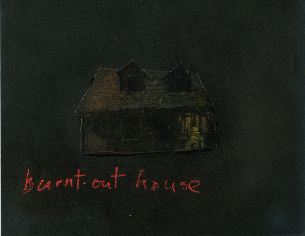 Burnt Out House  (2008), 11 x 8.5 in, oil on paper