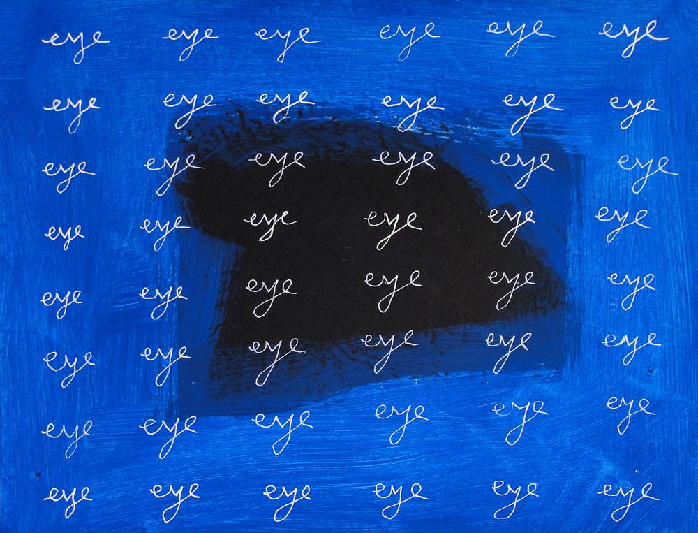 eye eye eye  (2013), 8.5 x 11 in, acrylic