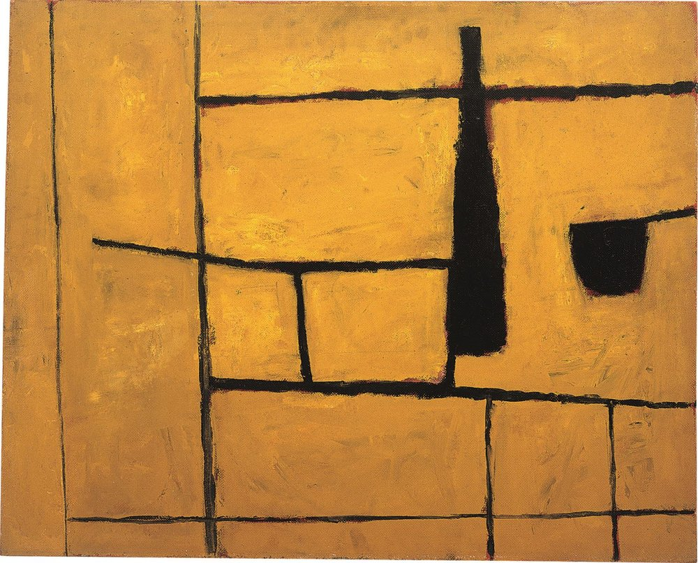 William Scott, 1954 Black Bottle and Yellow