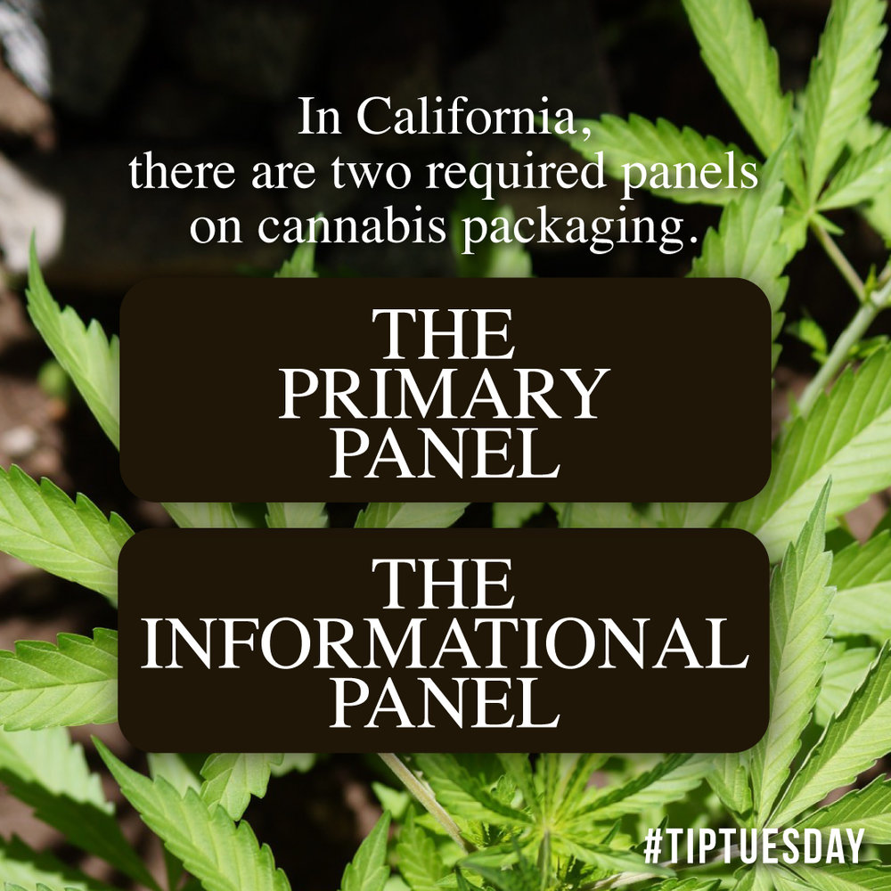 cannabis label panels, cannabis packaging