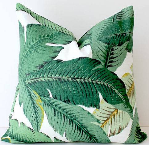 This North Carolina-based Etsy shop has an amazing selection of hand-made pillows. We especially love this palm frond one!