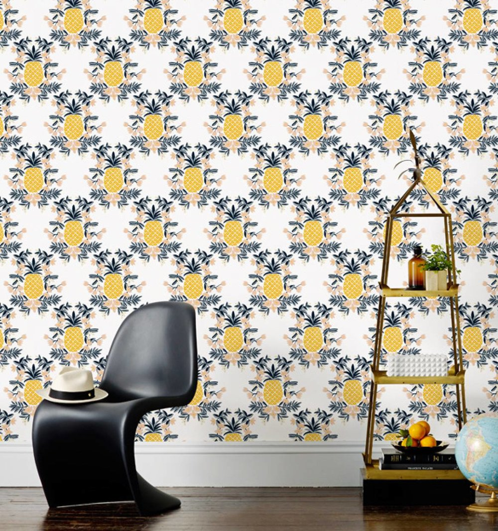 Pineapple wall paper