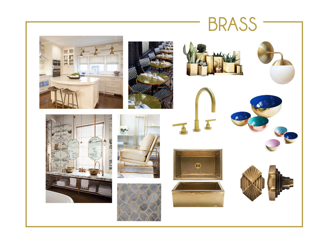 "Brass is our favorite metal finish to use. We often ask ourselves...""Is there too much brass?"" the answer is always no. Brass can be used in a variety of different design aesthetics and it always makes a space feel rich and polished."