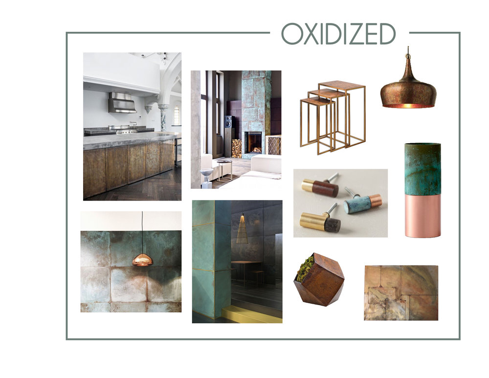 Oxidized Metal is a very interesting process, but creates such a beautiful result. Oxidized Metals are said to be one of 2017 top trends. What are your thoughts about it?