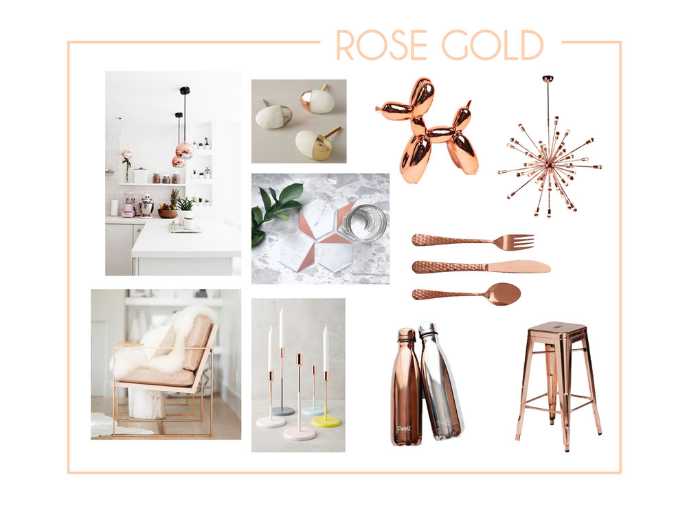 Rose Gold is not just popular within jewelry products anymore, it has made its way into interior products.  I will be honest, I was a little skeptical of this finish at first, but it has proved its point over and over. Rose Gold lends itself to a more feminine audience, but it creates so much color in a space.