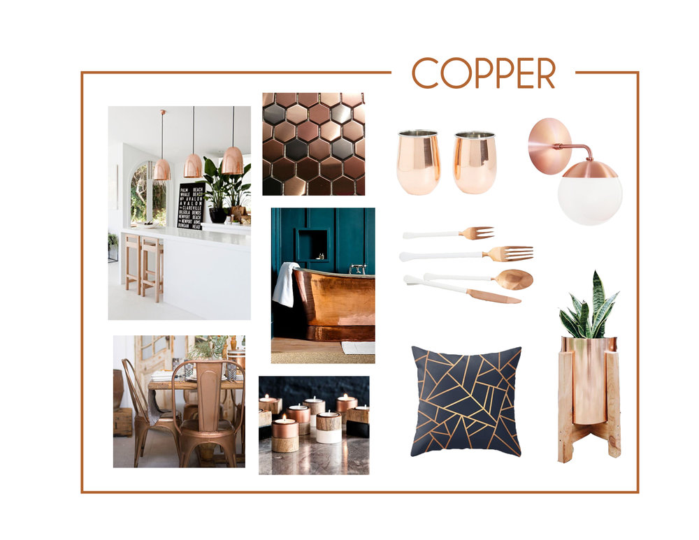It is always interesting to see what trends will circle back around, and copper has made its way back! Copper finishes are always such a fun surprise, and they will definitely catch every eye.