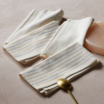 Metallic Striped Napkin by West Elm