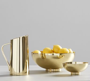 Gold Serveware by Pottery Barn