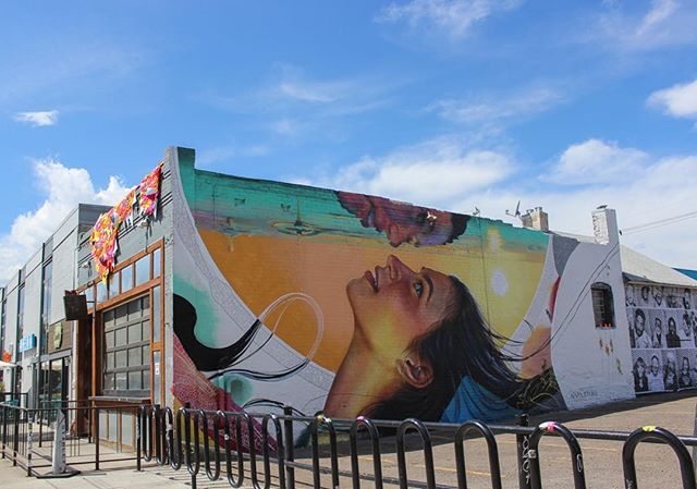 Denver Central Market - A great starting point to check out this year's edition of CRUSH WALLS. Download map - direct link in our bio! Mural by @napoletanoart - yarn bombing by @ladiesfancyworksociety - wheatpaste by @insideoutproject - stencil art by @jaune_art 📸 by @jstolzenbach