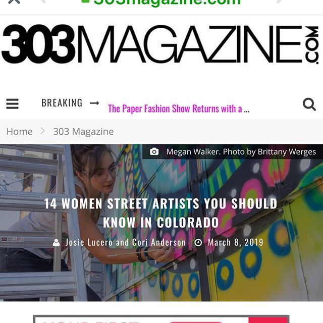We love our local artist community. We also believe in empowering emerging artist and ensuring that women hold a strong position in this culture we all love and support.  In honor of all the strong female artist holding it down please enjoy the following article by @_cori.anderson  of @303magazine link in comments