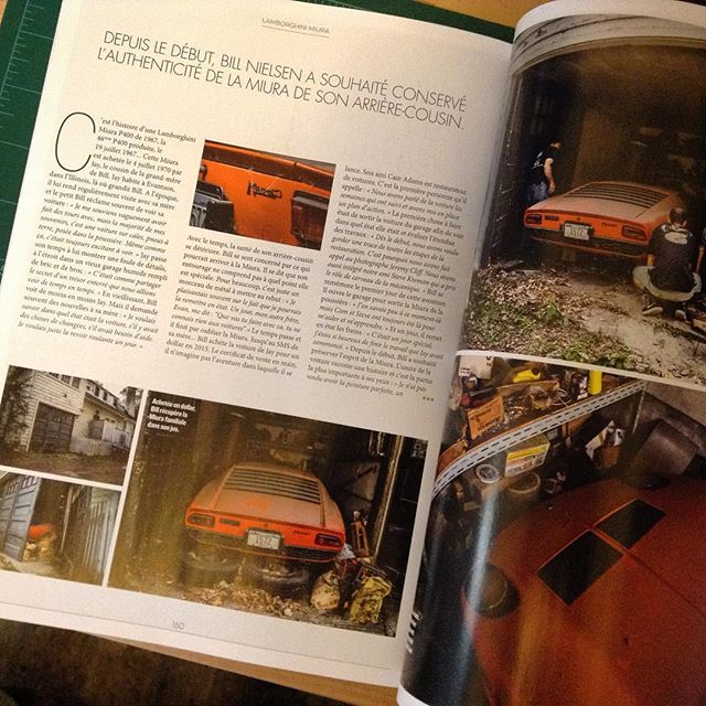 Super excited to be featured in the new issue of @autoheroesofficiel ... Now, if only I could understand French. Luckily the pictures by  @jeremycliff need no translation. #Lamborghini #miura #p400 #barnfind #vintagecar #classiccars #barnfindmiura #jeremycliff