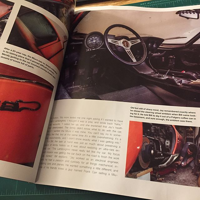 Super honored to have our full story of the resurrection of #miura3078 featured in this month's @wheelhubmag. Seeing @jeremycliff 's pictures in print is well worth the cover price! . . . . . #lamborghini #miura #p400 #v12 #barnfindmiura #miurap400 #whencarswerecars #print #wheelhubmagazine