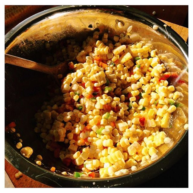 Happy Labor Day! Enjoying the last weeks of summer produce with this Corn Salad! (Recipe in comments)