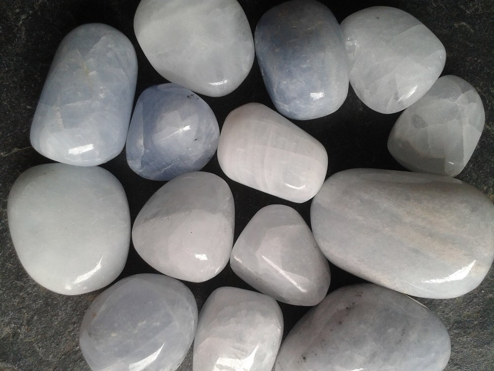 BLUE CALCITE - to calm and soothe fear, anger, overwhelm