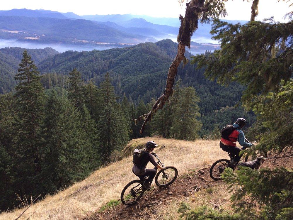 Last fall, riding near Oakridge, Oregon, a total mountain biking mecca.