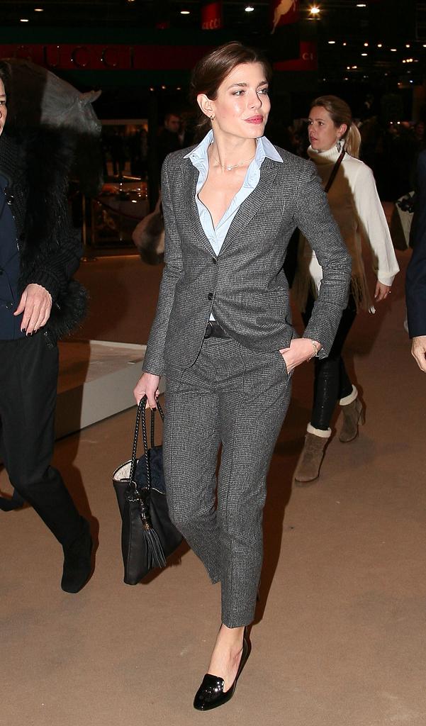 Carlota Casiraghi con un traje sastre
