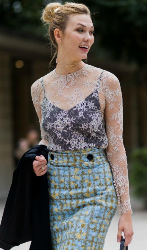 La modelo Karlie Kloss y su personal mezcla texturas y colores