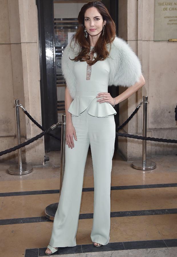 Eugenia Silva, con un elegante total white