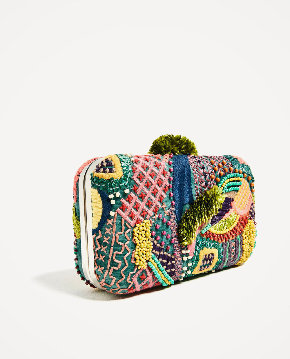 Clutch de Zara multicolor