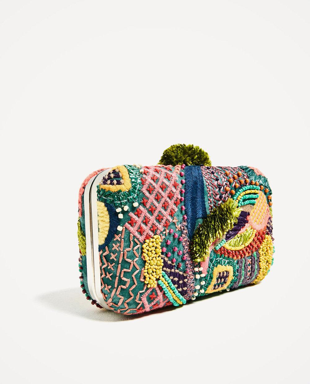 Clutch de Zara multicolor