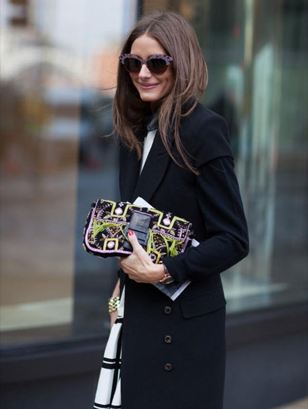Olivia Palermo con bolso Baguette