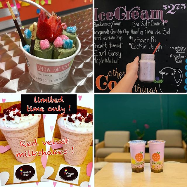 Share a sweet treat with your sweetie this #ValentinesDay! The toughest part is deciding between ice cream, popsicles, milkshakes, and bubble tea. Hmm, better stroll down 9th Street and try them all! 🍦 🍧 🍨 @pincho_loco @locopopsdurham @snowfactorydurham