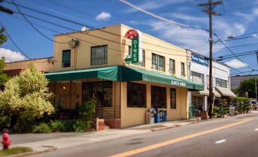 Elmo's Diner, exterior