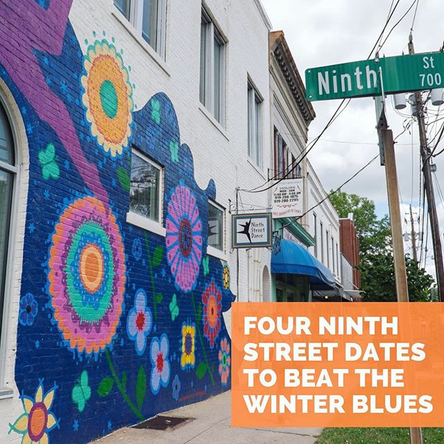 Tired of rain? Tired of winter? We've got the cure! Check out our guide (link in profile) to beat the winter blues by @kvcreativecontent and make a date (or four!) to visit 9th Street! #winterblues #datenight #discover9thstreet #nightout #raingoaway #tgif
