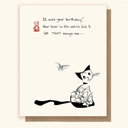 BELATED BIRTHDAY HC28 Haiku Cats